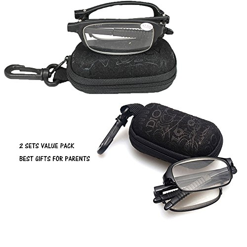 soolala-2-pairs-black-mini-tr90-folding-reading-glasses-with-clip-holder-zipper-case-7-strengths-15d