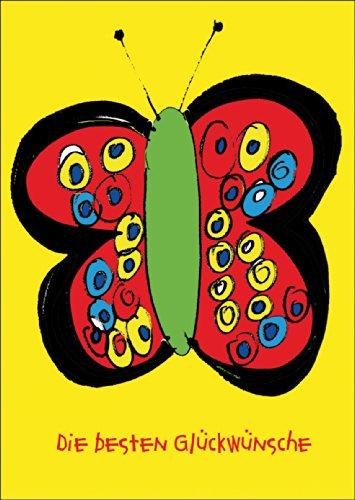 Verschicken Sie die besten Glückwünsche mit dieser schönen Schmetterlingskarte • auch zum direkt Versenden mit ihrem persönlichen Text als Einleger.