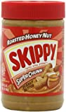 Skippy Peanut Butter, Roasted Honey Nut Super Chunk, 16.3-Ounce Jars (Pack of 6)