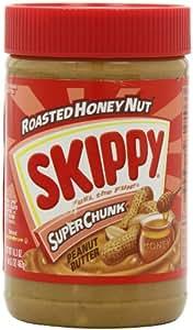 Skippy Peanut Butter, Roasted Honey Nut Super Chunk, 16.3-Ounce Jars (Pack of 6)