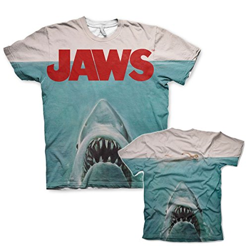 Officially Licensed Merchandise JAWS Allover Printed T-Shirt