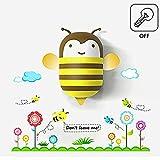 MaxS Kids Small Night Light LED Light and PVC Wall Stick Cute Aniaml with Sensor (Bee)