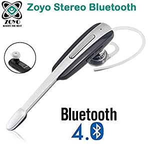 Zoyo Sports Bluetooth Headset Headphones Compatible with Samsung, Motorola, Sony, Oneplus, HTC, Lenovo, Nokia, Asus, Lg, Coolpad, Xiaomi, Micromax and All Android Mobiles Bluetooth Headset with Volume Control Button