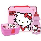 High Quality Hello Kitty Kids School Travel Food Lunch Bag Box & Bottle Set