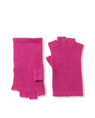 Sofia Cashmere Women's Fingerless Gloves, Fuchsia
