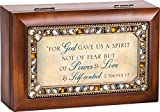 For God Gave Us Jeweled Woodgrain Jewelry Music Box - Plays Tune Friend In Jesus