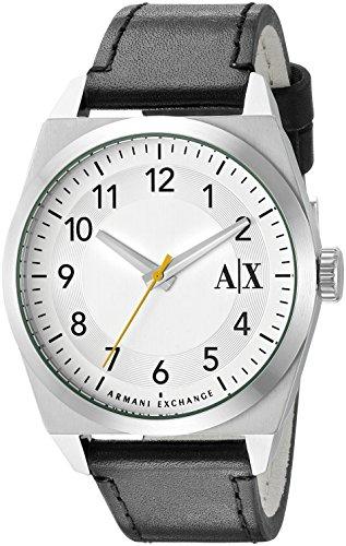 Armani Exchange AX2302 42mm Stainless Steel Case Black Calfskin Mineral Men's Watch