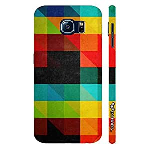 Samsung Galaxy S6 Coloured Blackboard Triangle designer mobile hard shell case by Enthopia