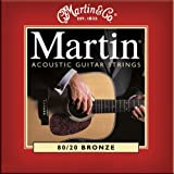 Martin 80/20 Bronze Acoustic Guitar Strings - Lightby Martin