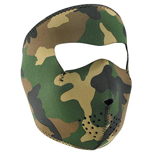 Zan Headgear Wnfm118 Neoprene Face Mask Woodland Camouflage WNFM118