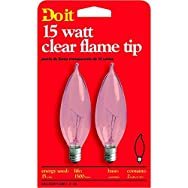 GE Private Label17786Do it Bent Tip Decorative Bulb-15W CLR BENT TIP BULB