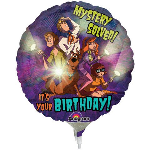 Scooby-doo Birthday Mini Anagram Balloons