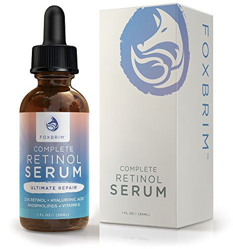 Foxbrim Complete Retinol Serum - 2.5% Phospholipid Based - Anti Aging Face Serum - With Vitamin A, Hyaluronic Acid & Organic Jojoba Oil - 1OZ (Sleep Satisfaction Llc Sign compare prices)