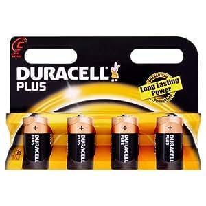 Duracell Plus MN1400 Alkaline C Batteries - 4-Pack