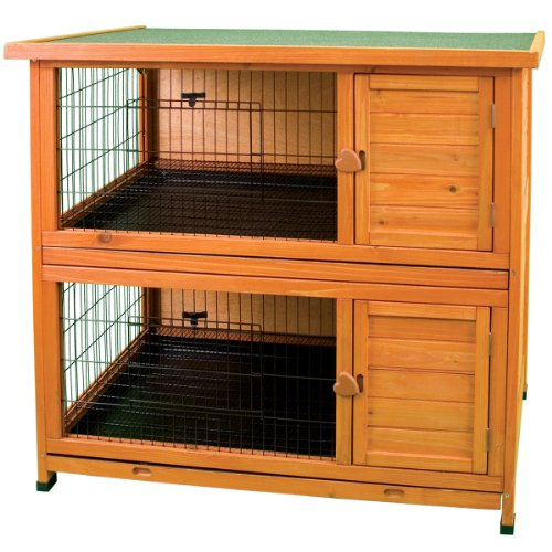 Ware-Manufacturing-Premium-Plus-Double-Decker-Hutch-for-Rabbits-and-Small-Pets