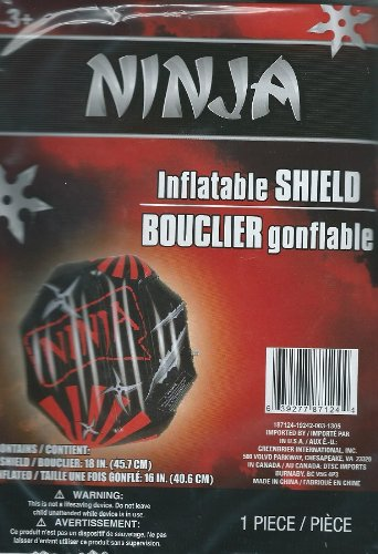Ninja Halloween Inflatable Shield (Black) 18""