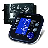 GoWISE USA Digital Blood Pressure Monitor FDA Approved Hypertension Indicator, Large LCD Display & Carry Bag