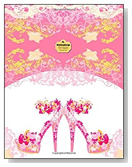 Pink Stiletto Heels Notebook - A pair of fancy pink stiletto heeled shoes bring class and dress up the cover of this blank and college ruled notebook with blank pages on the left and lined pages on the right.