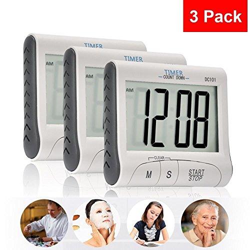 3 Pack Senbowe™ Digital Kitchen Timer/ Cooking Timer
