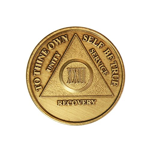 22 Year Bronze AA (Alcoholics Anonymous) - Sober / Sobriety / Birthday / Anniversary / Recovery / Medallion / Coin / Chip