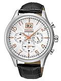 【SEIKO】セイコー ビッグデイト 腕時計 メーカー純正箱入り 100m防水 クロノグラフ 本革ベルト SPC087P1メンズ [並行輸入品]