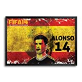 Bluegape Bluegape Xabi Alonso Spain Football FIFA World Cup 2014 Framed Poster (Transperant)