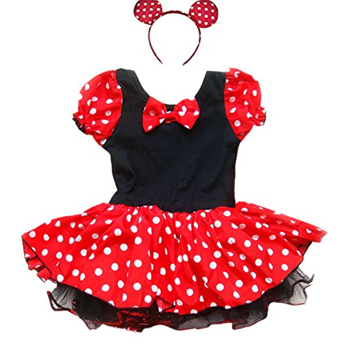 iEFiEL Minnie Mouse Costume With Headband Girl Baby Halloween Tutu Dressing Up