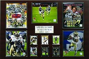 NFL 24 x 36 in. New Orleans Saints Super Bowl XLIV Champions Plaque by C&I Collectables