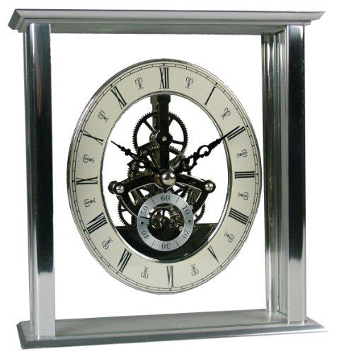 Acctim 36507 Malvern Mantel Clock, Silver
