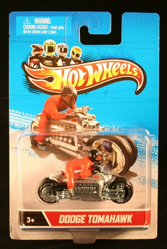 DODGE TOMAHAWK * MOTORCYCLE & RIDER * Hot Wheels 1:64 Scale 2012 Die-Cast Vehicle - 1