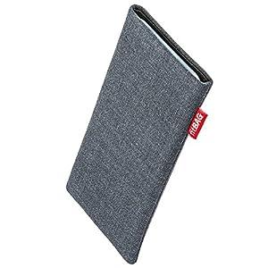 fitBAG Jive Grau Handytasche Tasche aus Textil-Stoff mit Microfaserinnenfutter für HTC One X