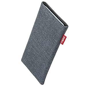 fitBAG Jive Grau Handytasche Tasche aus Textil-Stoff mit Microfaserinnenfutter für LG Google Nexus 5 (Neues Modell November 2013)