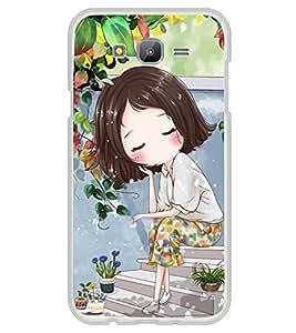 Cute Anime Cartoon Thinking 2D Hard Polycarbonate Designer Back Case Cover for Samsung Galaxy E5 (2015) :: Samsung Galaxy E5 Duos :: Samsung Galaxy E5 E500F E500H E500HQ E500M E500F/DS E500H/DS E500M/DS