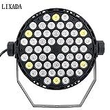LIXADA DMX-512 RGBW LED ステージライト スポットライト パーライト PARライト Par Light/ ディスコライト /ミラーボール / 舞台 / 演出 / 照明 54W AC 100 -240V