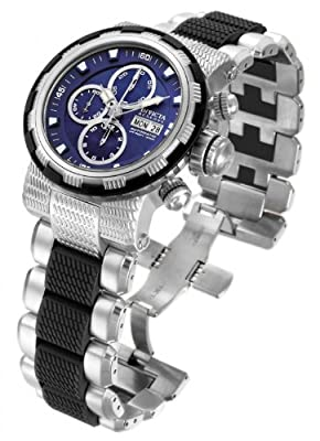 Invicta Men's Reserve Swiss 7750 Valjoux Automatic Chronograph Blue Dial Bracelet Watch 12495
