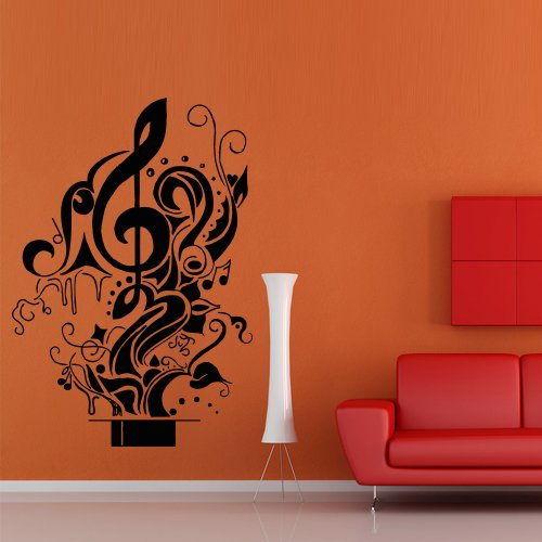 Wall Decal Decor Decals Art Sticker Note Hat Magic Illusion Cherry Music Song Heart Relax Star (M391) front-482656