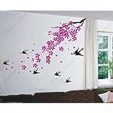 Cherry Blossom, Birds - Beautiful Tree Wall Decals For Kids Rooms Teen Girls Boys Wallpaper Murals Sticker Wall...