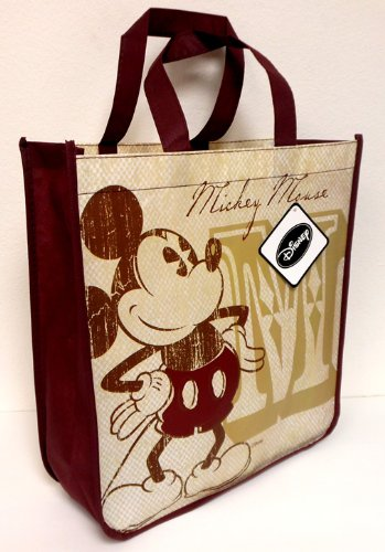 Disney Vintage Mickey Mouse Reusable Tote Bag (13 x 14 x 5 Inches)