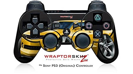 Sony PS3 Controller Skin - 2010 Camaro RS Yellow