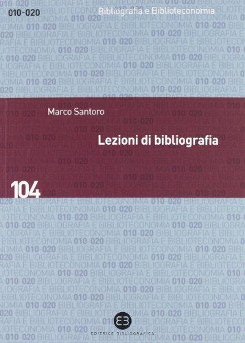 Lezioni di bibliografia PDF