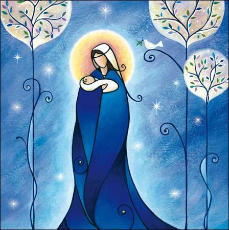 Heavenly Peace Charity Christmas Cards Pack - 5 cards - Charity: Childline