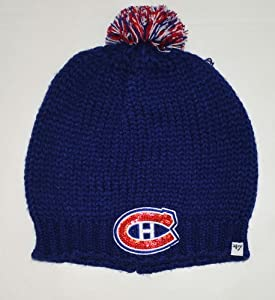 Montreal Canadiens 47 Brand NHL Women's Knit Beanie Stocking Cap Royal One Size