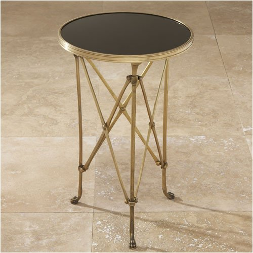Cheap Global Views 8497 Directoire Brass & Black Granite End Table (B0012U3I9W)