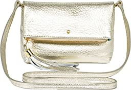 Jack Rogers Gioia Mini Leather Clutch, Platinum, One Size