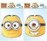 TWIN PACK - Minions Dave & Stuart - 2 Official Despicable Me Masks