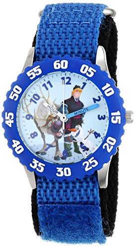 Disney Kids' Frozen Kristoff, Sven Character Watch, W001784, Woven Blue Band