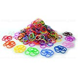 300 SCENTED BRIGHT NEON COLOUR LOOM BANDS CRAZY WITH S CLIPS AND HOOK