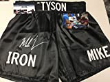 Mike Tyson Autographed Signed Boxing Trunks Shorts Custom IRON MIKE GTSM Tyson COA & Hologram W/Photo From Signing