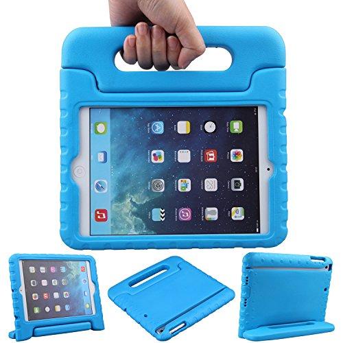 EVA素材 iPad Mini ケース, LEFON 児童 最軽量 耐衝撃 超耐久性 Apple iPadシリーズ 保護 ケース Apple iPad Mini 1/2/3, iPad Mini 4に適します (For Apple iPad Mini 1/2/3, ブルー)