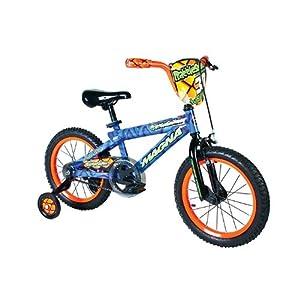 Dynacraft Boy's Magna Rattle Snake Bike (Blue/Orange, 16-Inch)